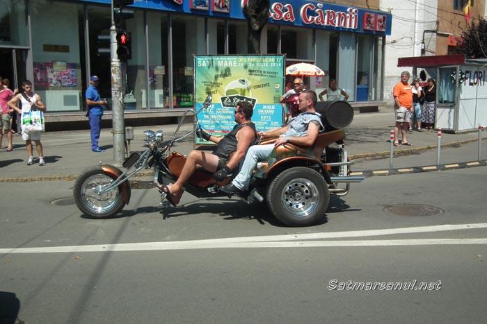 Parada motocicliştilor în Centrul Vechi al Sătmarului (galerie foto)