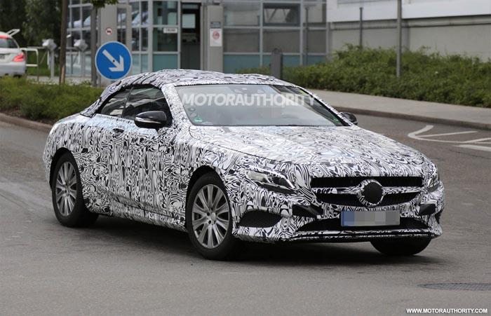 Primele imagini spion cu noul Mercedes-Benz S-Class Cabrio