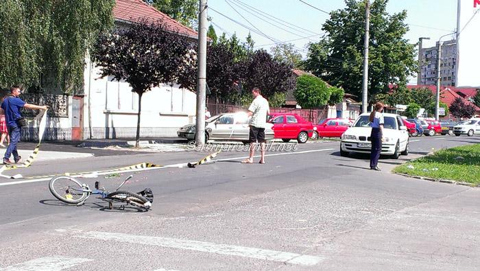 Accident pe strada Cloșca din Satu Mare (galerie foto)