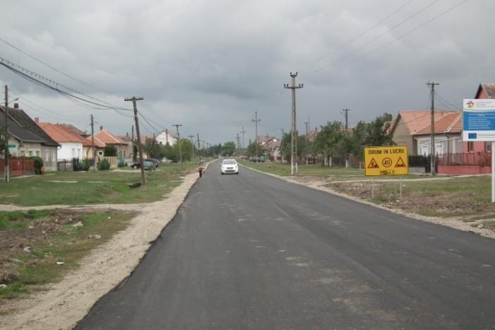 Drumul dintre Sanislău și Omboly a fost reabilitat în cadrul unui proiect transfrontalier