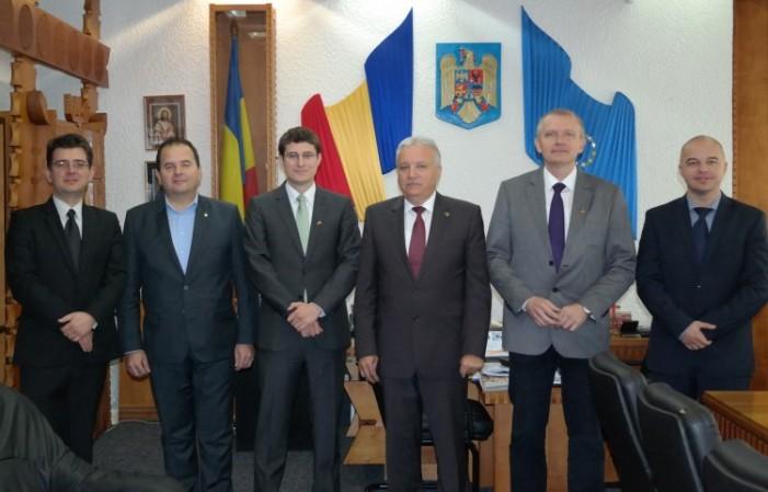 Șeful Secției Economice a Ambasadei Germaniei la București, în vizită la Satu Mare