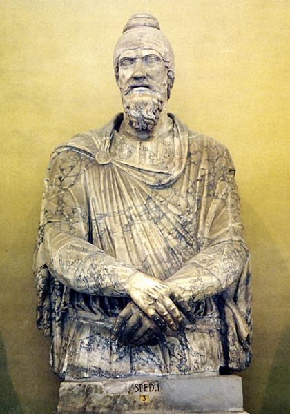 Statuia unui dac – cea mai mare statuie din Galeria Chiaramonti a Vaticanului