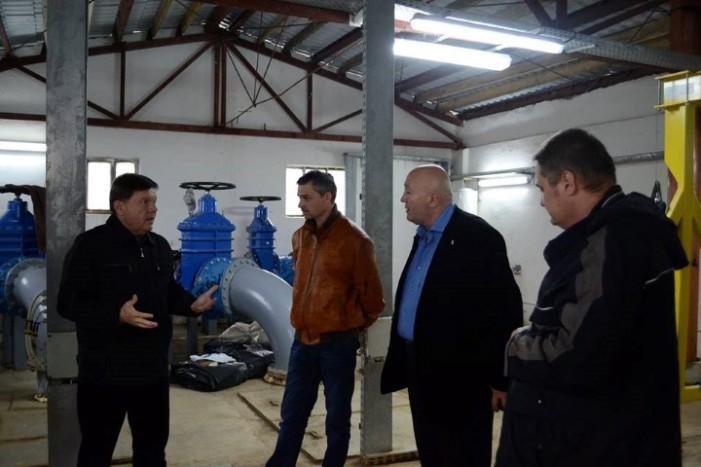Dorel Coica a efectuat o vizită de lucru la stația de pompare a apelor uzate de pe strada Axente Sever