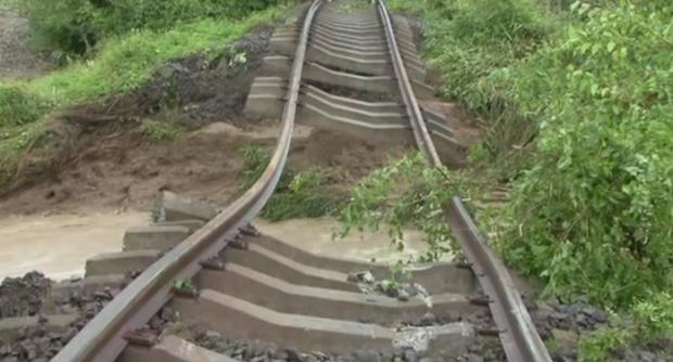 Cale ferată distrusă
