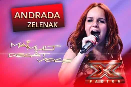 Sătmăreanca Andrada Zelenak s-a calificat în următoarea etapă la X Factor