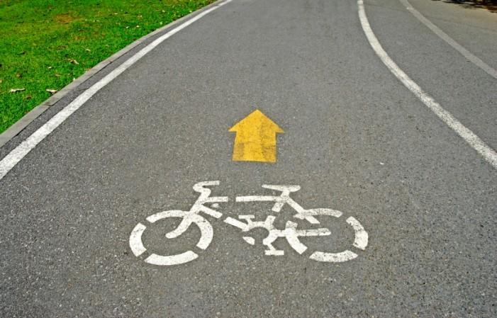 Pistă pentru bicicliști pe strada Barițiu din Satu Mare