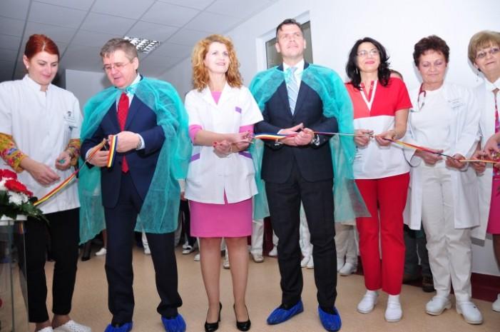 S-au inaugurat lucrările de reabilitare a secțiilor de Obstetrică și Neonatologie din cadrul Spitalului Județean Satu Mare