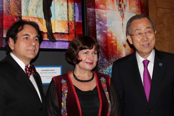 Creațiile pictorului de origine sătmăreană, Alexandru Darida, prezentate la sediul ONU