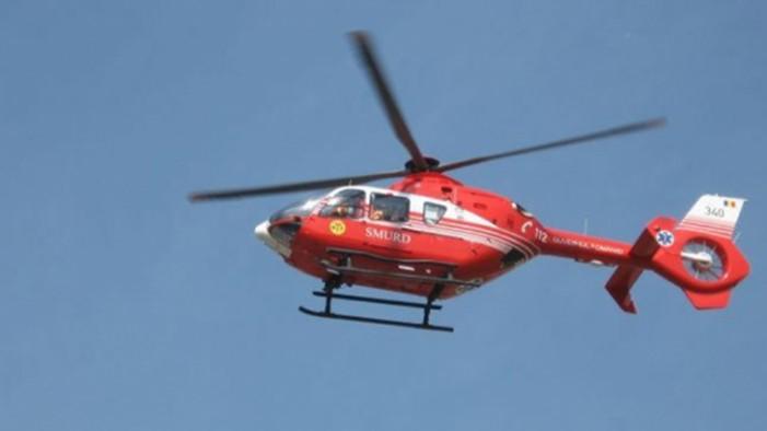Un elicopter SMURD s-a prăbușit într-un lac din Constanța