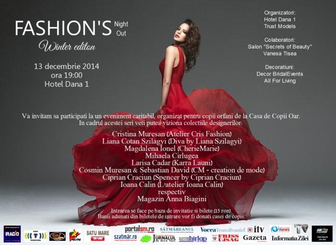 """""""Fashion's Night Out"""" vine cu colecții unicat la show-ul vestimentar de la Hotel """"Dana I"""""""
