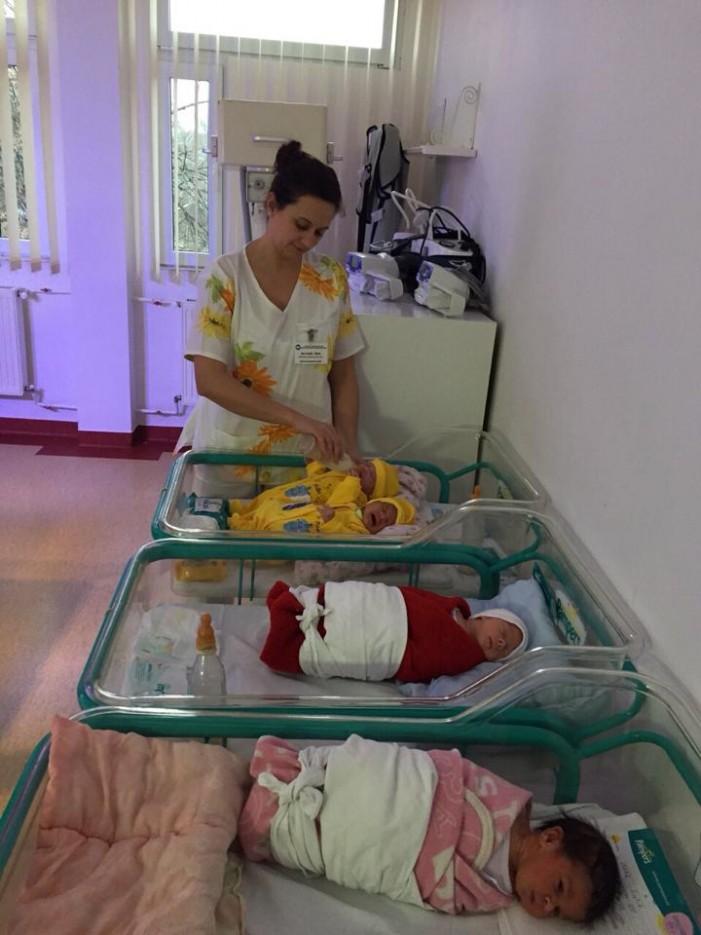 Pachete cadou pentru copiii Secției de Neonatologie, oferite de LTSD Satu Mare