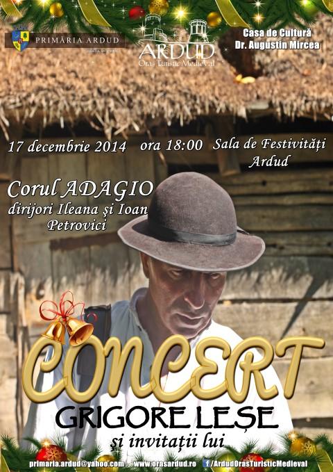 Grigore Leșe va susține un concert la Ardud