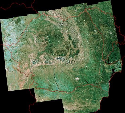 România văzută din satelit