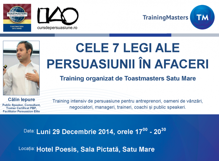 Seminar marca Toastmasters la Satu Mare