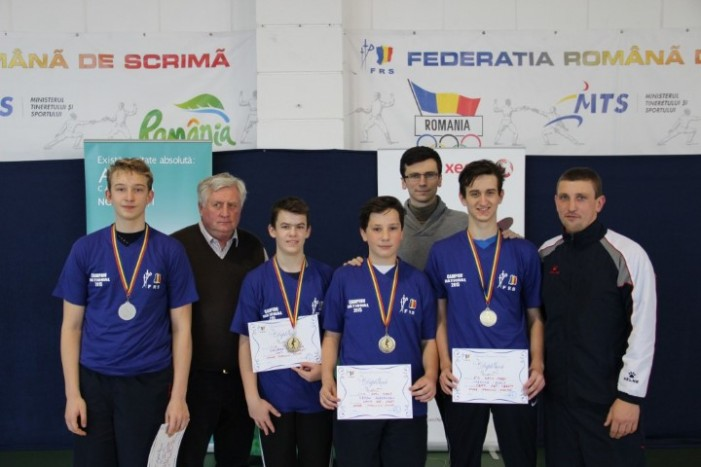 CS Satu Mare a câștigat Campionatul Național de spadă cadeți, proba masculină pe echipe