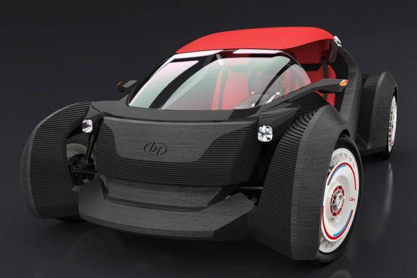 Vezi prima mașină realizată de o imprimantă 3D