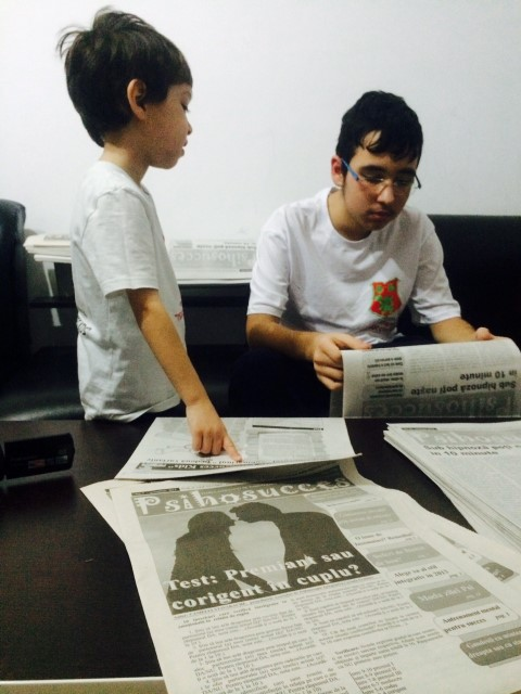 """""""Psihosucces Kids"""", universitatea celor mici. Reporteri la doar 4 ani, manageri media la 14 ani"""