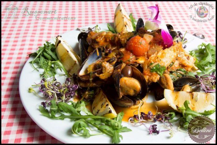 Rețetă italiană: Platou din fructe de mare cu biban (lup de mare)