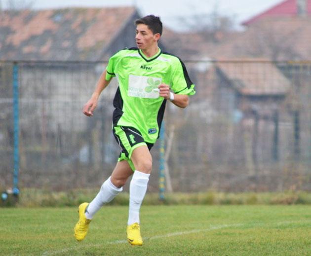 Fotbalistul Tony Kanaloș a marcat pentru naționala de juniori a României