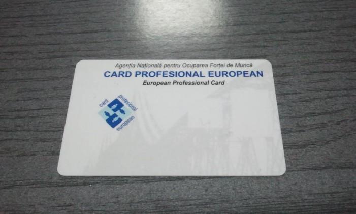 """""""Cardul profesional european"""" se poate ridica de la sediul AJOFM Satu Mare"""