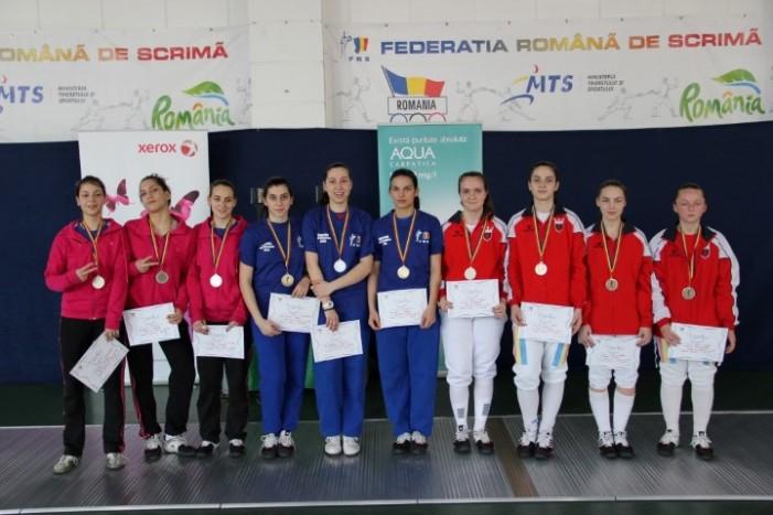 CS Satu Mare, bronz la Campionatul Național de floretă juniori, proba pe echipe la feminin