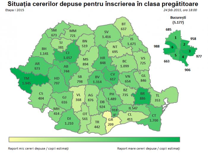 Înscrierea copiilor în învățământul primar, în plină desfășurare în județul Satu Mare