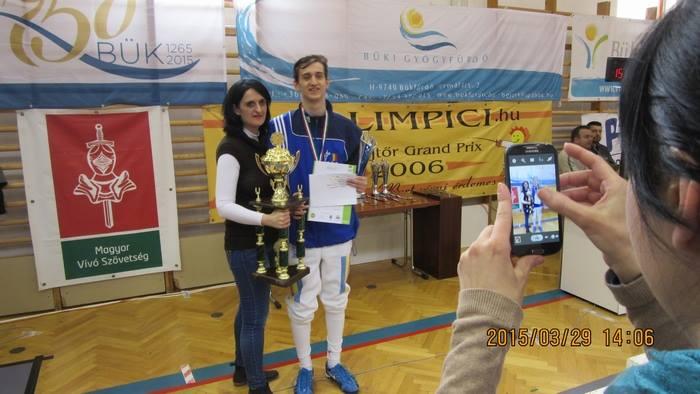 """Sătmăreanul Adam Macska, cel mai bun spadasin la """"Olimpici"""""""