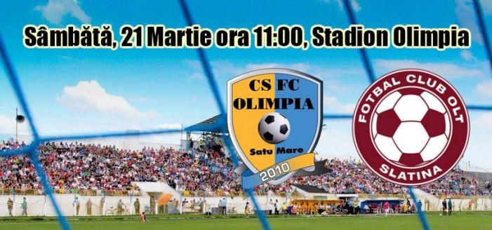 Fotbal: Olimpia Satu Mare-FC Olt Slatina