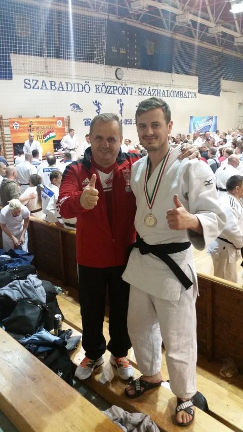 """Vasile Fușle jr. a cucerit medalia de argint la """"Hungarian Open Masters Judo Championships"""""""