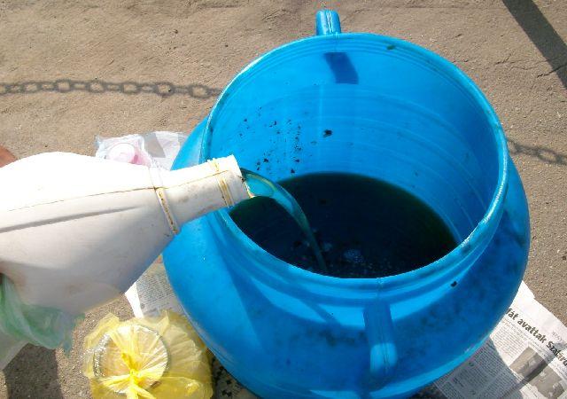 Punct de colectare a uleiurilor uzate în orașul Ardud