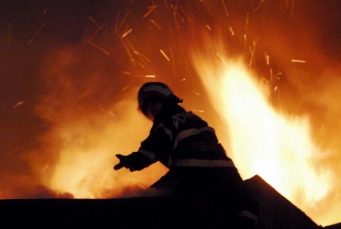 Incendiu la Beltiug