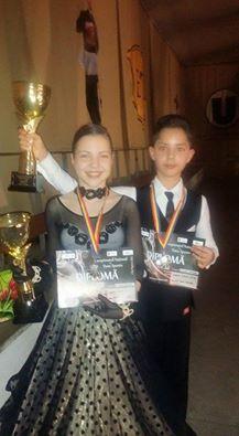 Ciprian Marița și Oana Bumba, vicecampioni naționali la dans sportiv