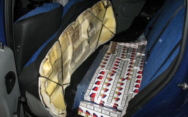 Femeie prinsă cu țigări de contrabandă