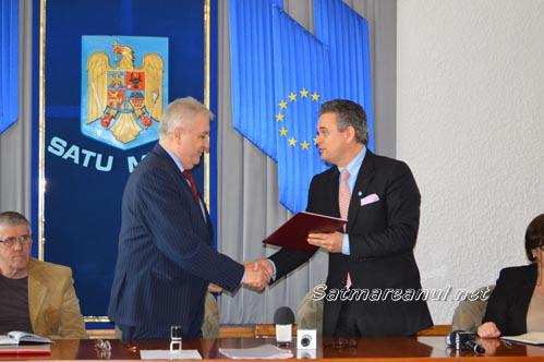 Parteneriat între Prefectura Satu Mare și Uniunea Patronatelor din România