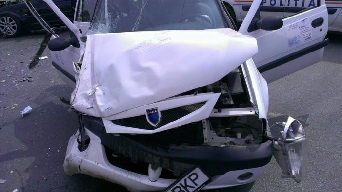 "Accident grav la intersecția de la ""Crinul"" (Galerie foto)"