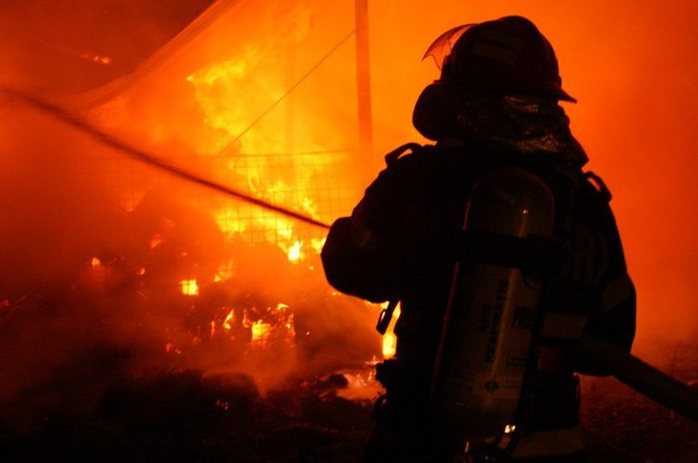 Șură incendiată în localitatea Culciu Mic