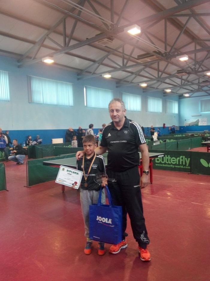 Paul Szilagyi, locul II la turneul de tenis de masă de la Mediaș