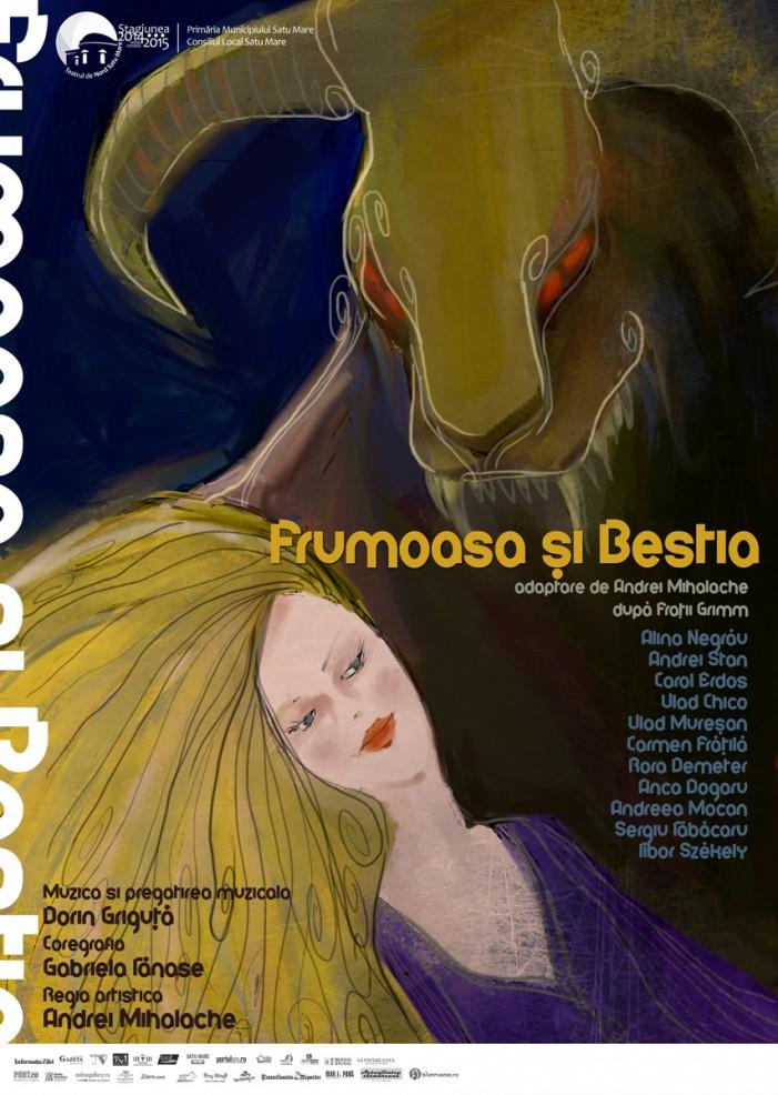 """""""Frumoasa și Bestia"""", pe scena Casei de Cultură a Sindicatelor"""