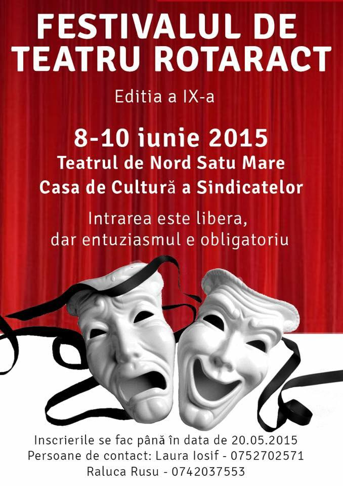 """Festivalul de Teatru """"Rotaract"""", la a IX-a ediție"""