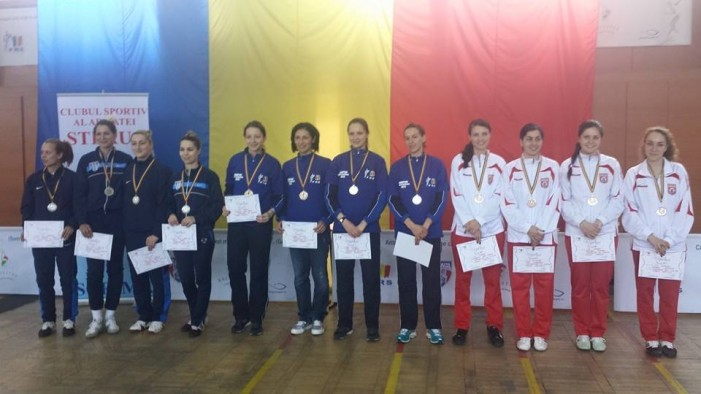 CSA Steaua1, cu Simona Pop în echipă, medalie de aur în Superliga Națională la spadă seniori feminin
