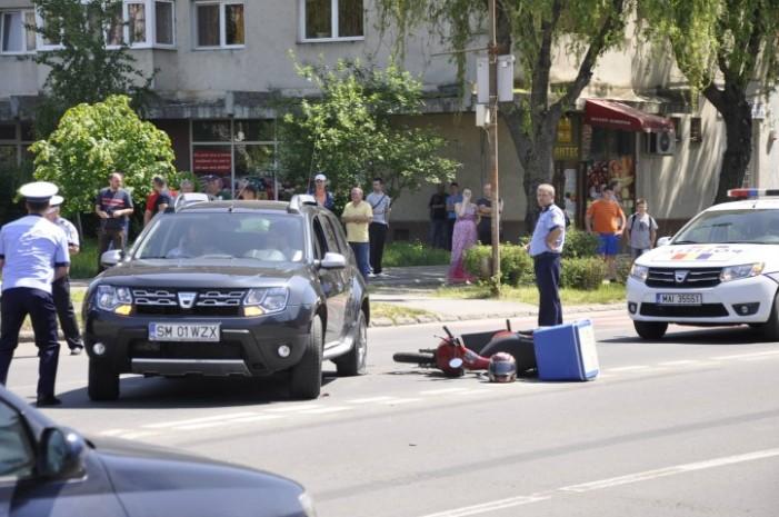 Mașina Primăriei Satu Mare implicată într-un accident