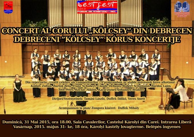 """Corului """"Kolcsey"""" din Debrețin va susține un concert la Carei"""