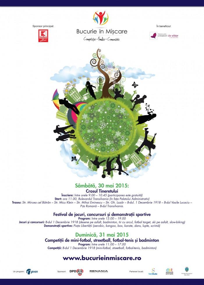 """Festivalul """"Bucurie în Mișcare"""", debutează la Satu Mare în cadrul """"Zilelor Orașului"""""""