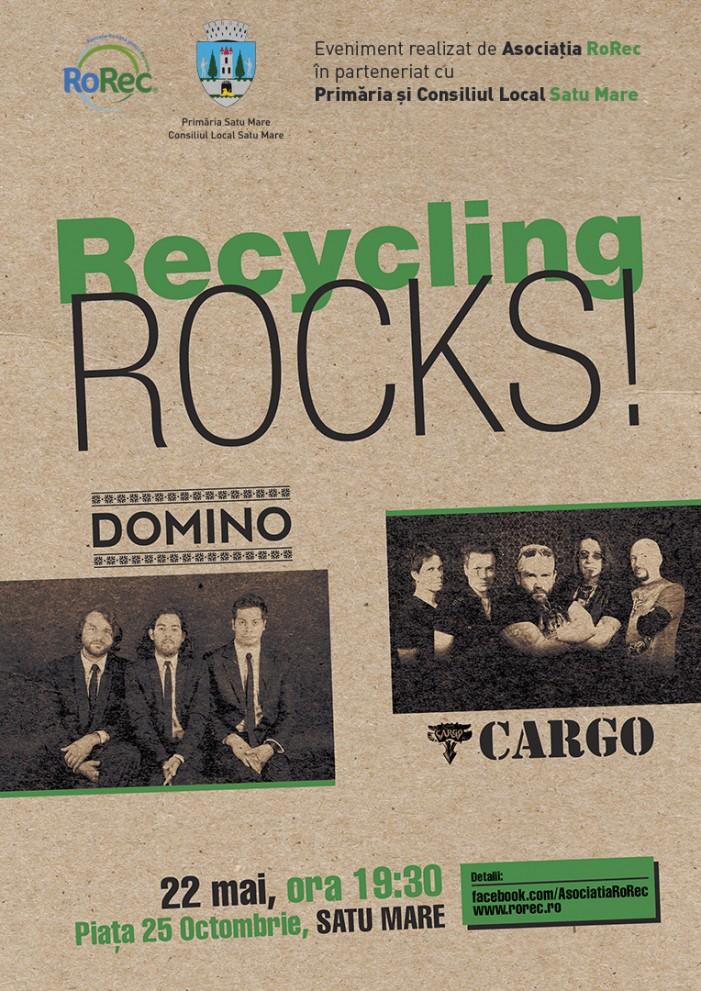 """Concert Cargo&Domino: """"Recycling Rocks!"""" ajunge la Satu Mare"""