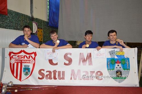 CSM Satu Mare a cucerit medaliile de aur în Superliga Națională de spadă seniori masculin !!! (Galerie foto)