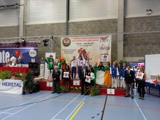 15 medalii pentru CSM Satu Mare la Campionatului  European de Karate din Belgia