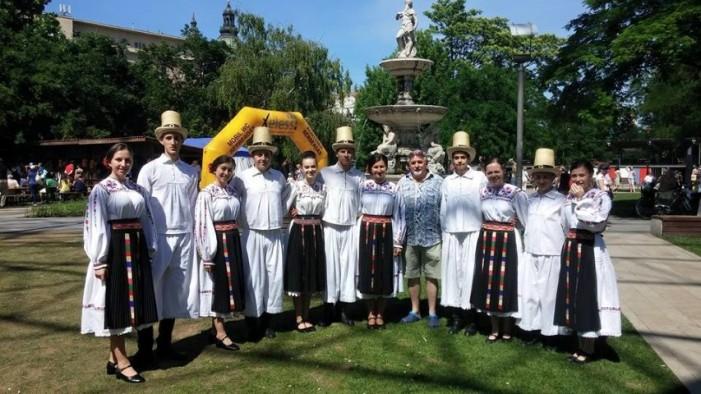"""Ansamblul """"Ceatăra"""" din Carei a susținut două concerte la Budapesta, în acest week-end"""