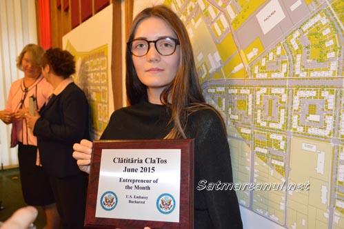 Clătităria ClaTos are succes: Sătmăreanca Alexandra Lipovan, premiată de Ambasada SUA la București