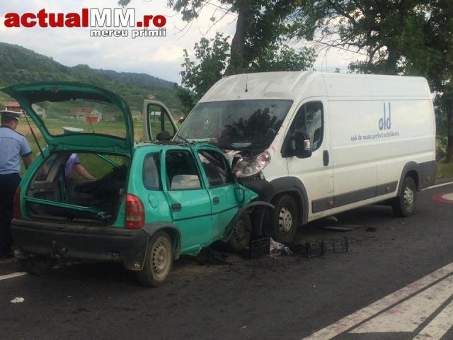 Accident cu o persoană rănită pe Drumul Național Baia Mare-Satu Mare