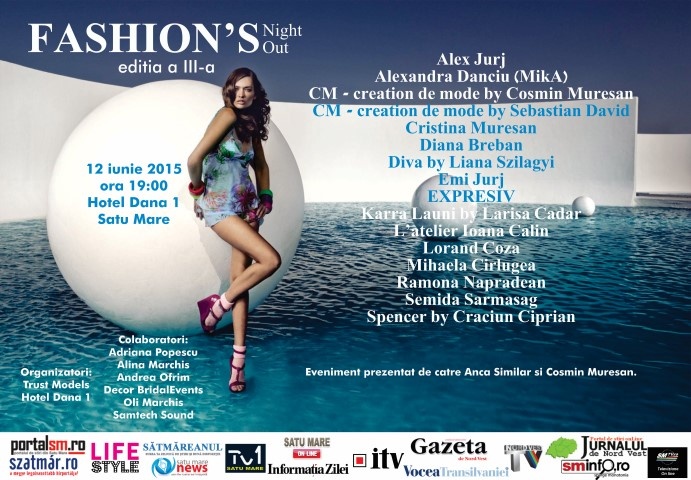 """Fashion's Night Out"": Manechinii vor prezenta și ultima colecție a Semidei Sărmășag"